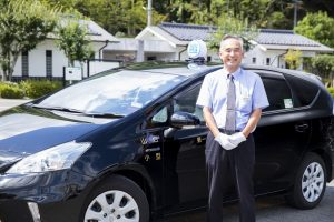 タクシードライバー_笑顔